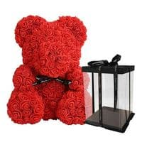 - 25€ OFF - Large Rose Bear in a box